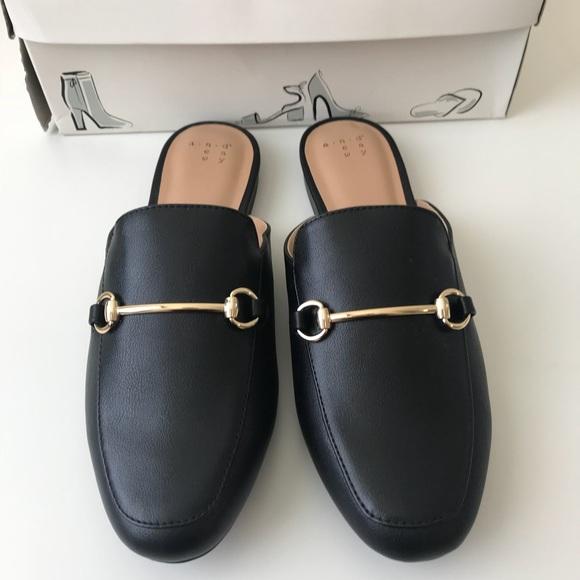 b5ee4ffa079 NWB A New Day black slip on backless loafer